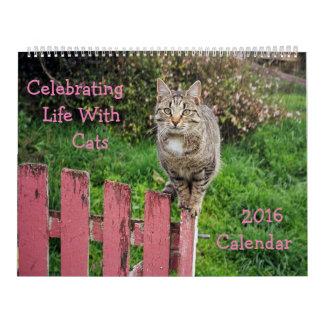 Celebración de vida con el calendario de los gatos