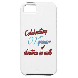 Celebración del 1r año de navidad en la tierra iPhone 5 protector