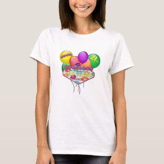 celebración del 21ro CUMPLEAÑOS en la camiseta de