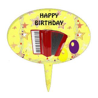 Celebración del acordeón figura de tarta