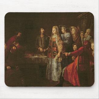 Celebración del acuerdo del boda, 1777 tapetes de ratón