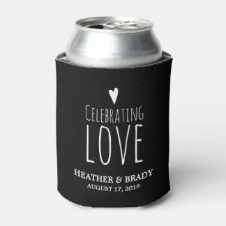 Celebración del amor el | que se casa enfriador de latas