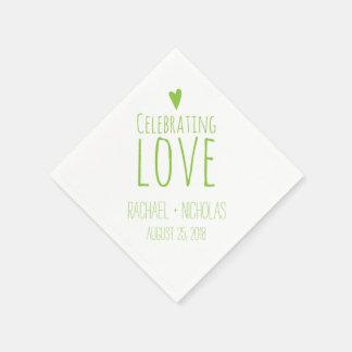 Celebración del amor el | que se casa servilletas de papel
