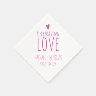 Celebración del amor el | que se casa servilletas desechables