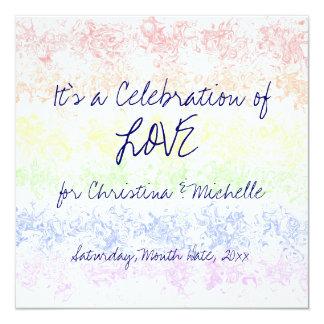 """Celebración del amor invitación 5.25"""" x 5.25"""""""