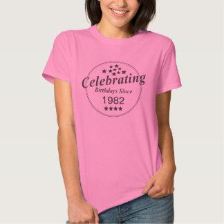 Celebración del año del nacimiento del poleras