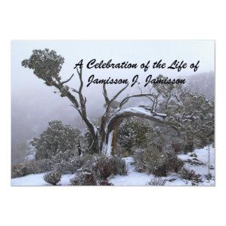 """Celebración del árbol del invierno de la invitación 5"""" x 7"""""""