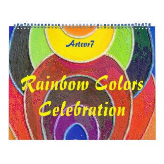 Celebración del arco iris del arte de 2016 calendarios