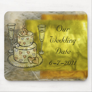 Celebración del boda de oro tapetes de raton