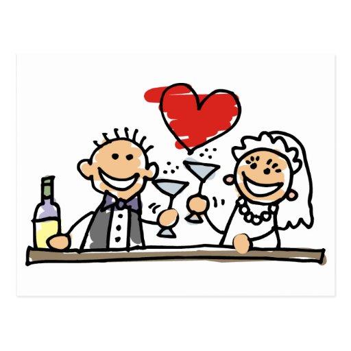 Celebración del boda postal