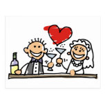 Celebración del boda postales