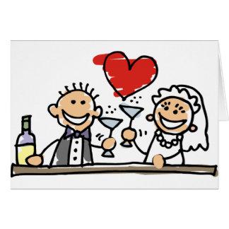 Celebración del boda tarjetón