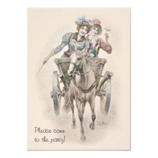 """Celebración del caballo y del carro del fiesta de invitación 4.5"""" x 6.25"""""""