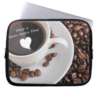 Celebración del café de la Haba-tastic Funda Computadora