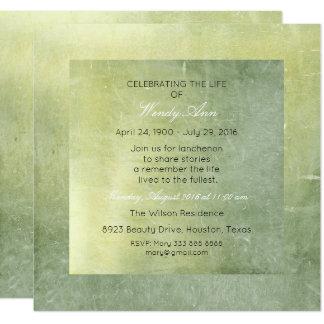 """Celebración del cemento vivo vivo de la verde invitación 5.25"""" x 5.25"""""""
