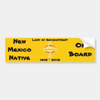 Celebración del centenario de New México - de Zia Pegatina De Parachoque