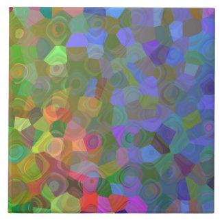Celebración del color azulejo cuadrado grande