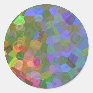 Celebración del color pegatina redonda