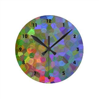 Celebración del color reloj redondo mediano