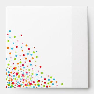 Celebración del confeti multicolora sobre