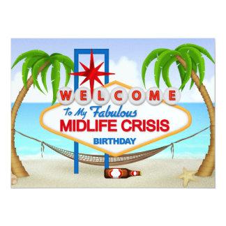 """Celebración del cumpleaños de la crisis de la invitación 5.5"""" x 7.5"""""""
