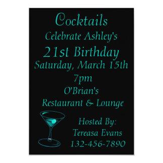 """Celebración del cumpleaños del cóctel invitación 5"""" x 7"""""""