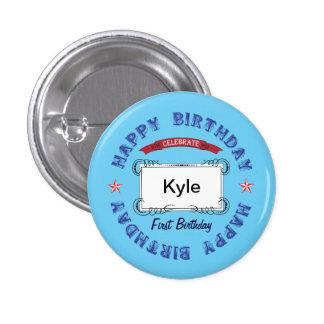 Celebración del cumpleaños pin redondo 2,5 cm