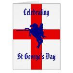 Celebración del día de San Jorge Tarjeta De Felicitación