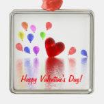Celebración del día de San Valentín Ornamento De Navidad