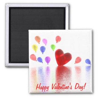 Celebración del día de San Valentín Imán Cuadrado