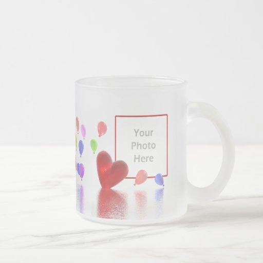 Celebración del día de San Valentín (marco de la f Taza Cristal Mate