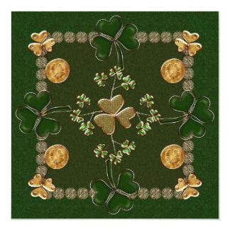 """Celebración del día del St. Patricks Invitación 5.25"""" X 5.25"""""""