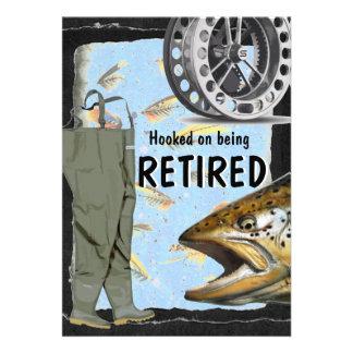 Celebración del fiesta de retiro de la pesca con m anuncios