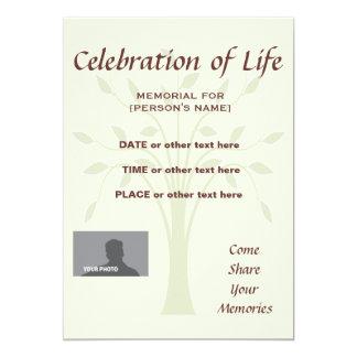 Celebración del fondo conmemorativo del invitación 12,7 x 17,8 cm