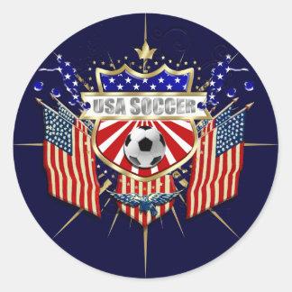 Celebración del fútbol de los E.E.U.U. para las fa Pegatina Redonda
