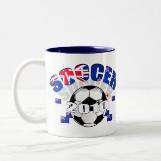 Celebración del fútbol de Nueva Zelanda Tazas De Café