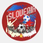 Celebración del fútbol del fútbol del Grunge de Pegatina Redonda