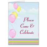 Celebración del globo de la diversión felicitacion