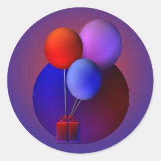 Celebración del globo pegatina redonda