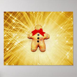Celebración del hombre de pan de jengibre posters