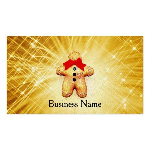 Celebración del hombre de pan de jengibre plantillas de tarjeta de negocio