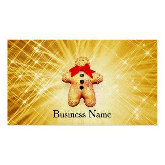 Celebración del hombre de pan de jengibre tarjetas de visita
