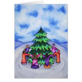 Celebración del invierno tarjeta de felicitación