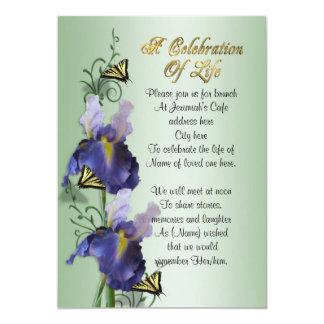"""Celebración del iris y de la mariposa de la invitación 5"""" x 7"""""""