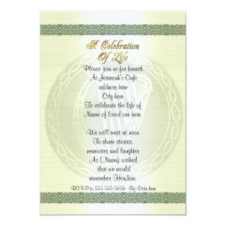 """Celebración del irlandés céltico del nudo de la invitación 5"""" x 7"""""""