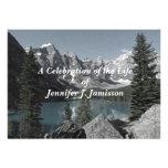 Celebración del lago mountains de la invitación de