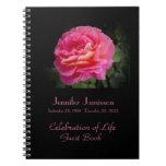 Celebración del libro de visitas de la vida, color note book