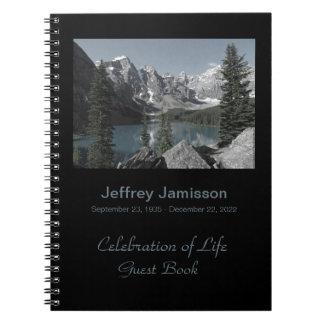 Celebración del libro de visitas de la vida, lago libreta