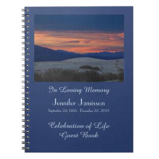 Celebración del libro de visitas de la vida, libreta