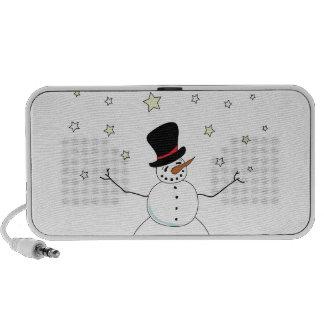 Celebración del muñeco de nieve iPod altavoces